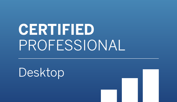Tableau Desktop Certified Professional