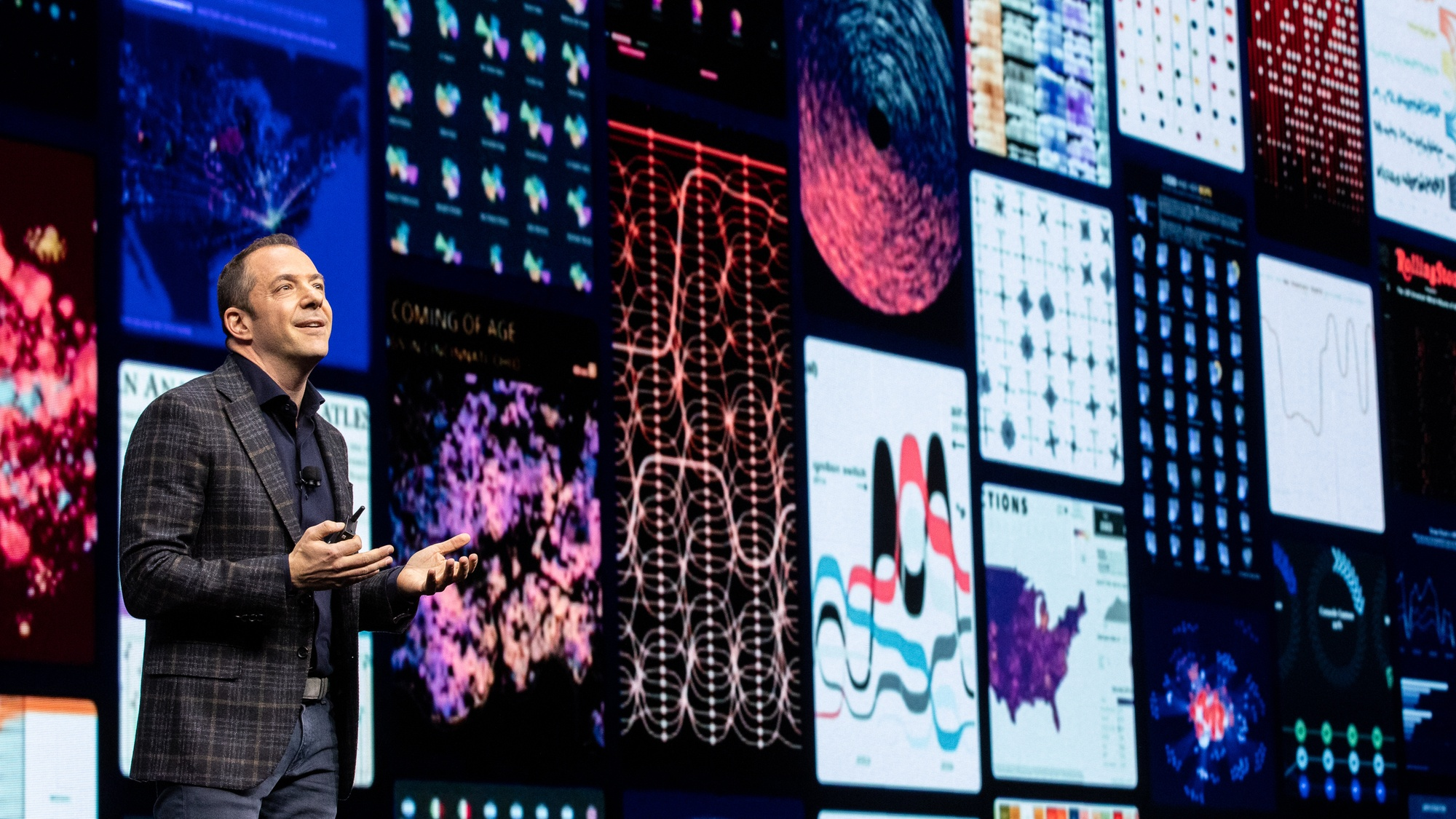 Francois Ajenstat discusses advancements to the Tableau platform on stage at TC19