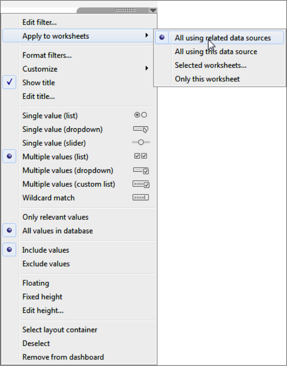 As Requested You Can Filter Across Data Sources In Tableau 10
