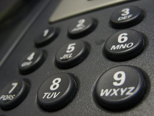 A landline phone