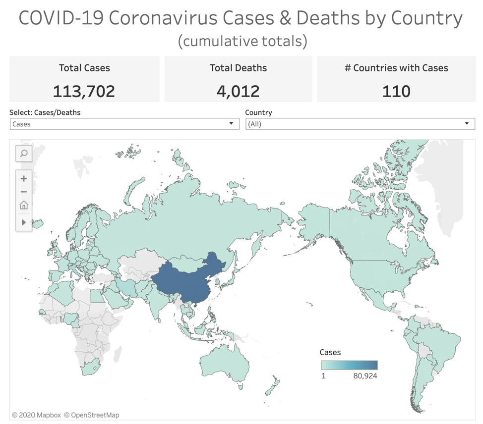 Why are data and analytics important for understanding outbreaks? | Tableau Software