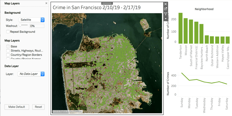 Mapa vectorial de San Francisco