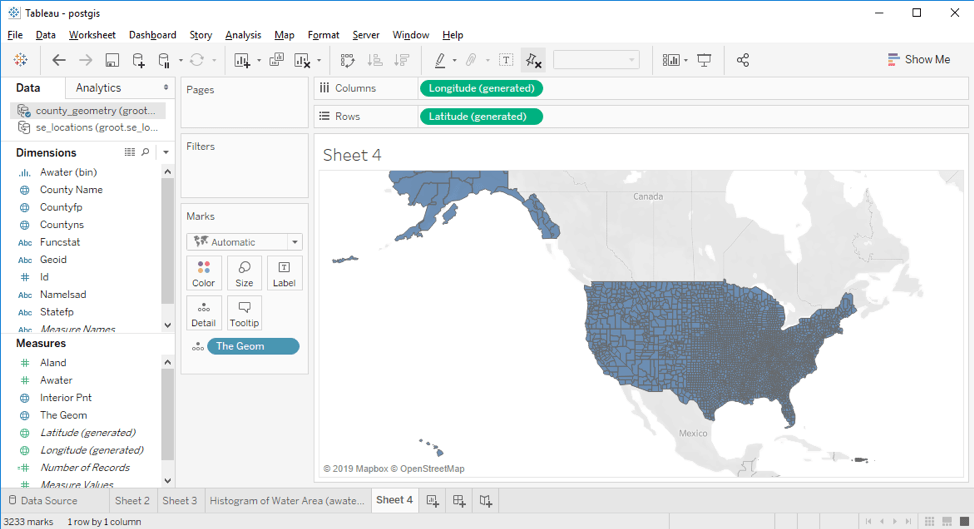 How to combine PostGIS and Tableau to unleash more spatial