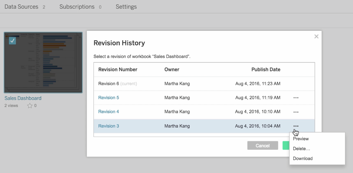 Restore your workbook with one click in Tableau 10 | Tableau