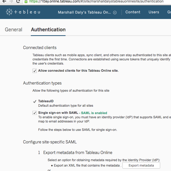 Tableau Online tips: Site admins rejoice with ADFS authentication
