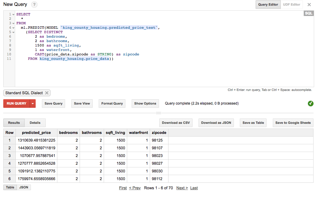 Leveraging Google BigQuery's machine learning capabilities for