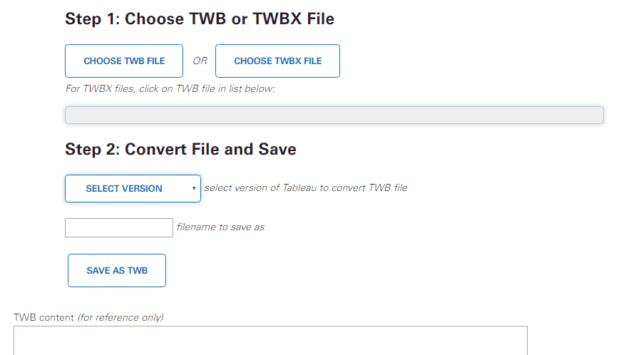 convert the version of your tableau files with this handy tool