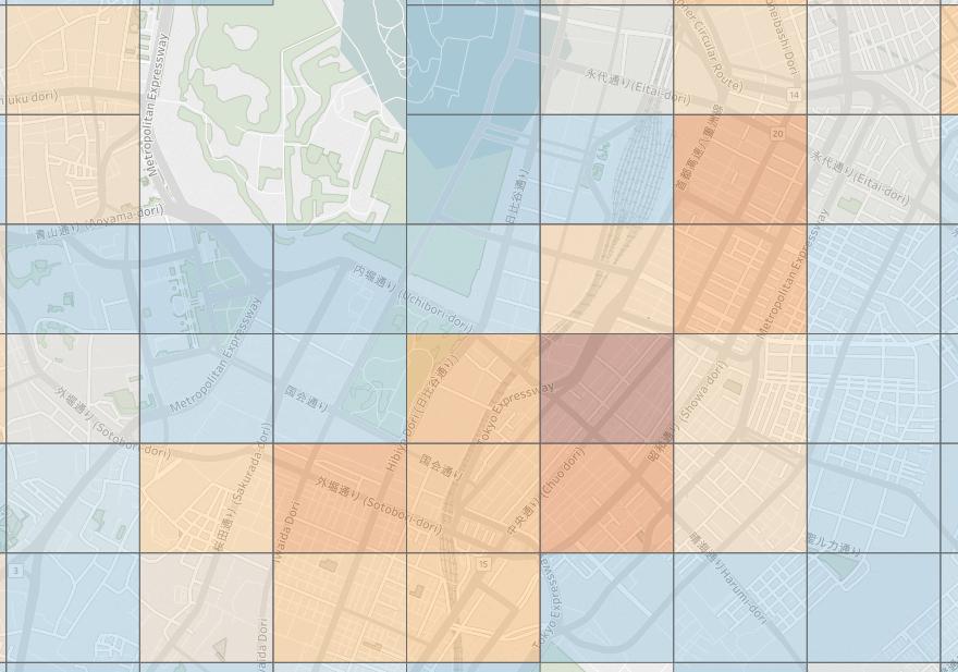 銀座エリアの特に中央通り周辺に医療機関が多い