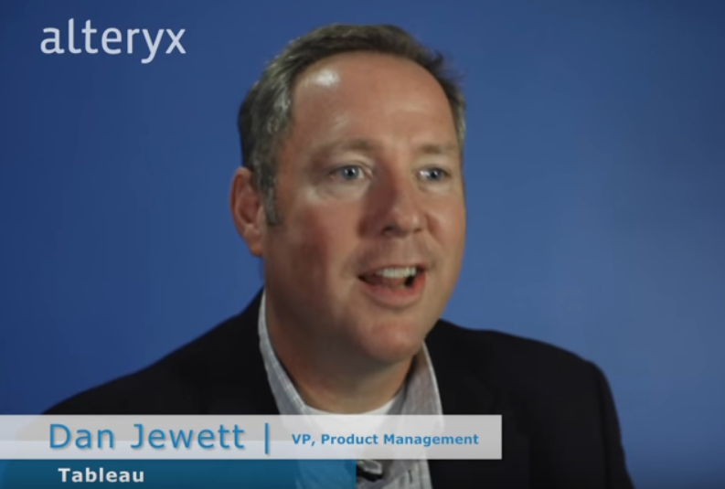 Dan Jewett Alteryx VP Product Management