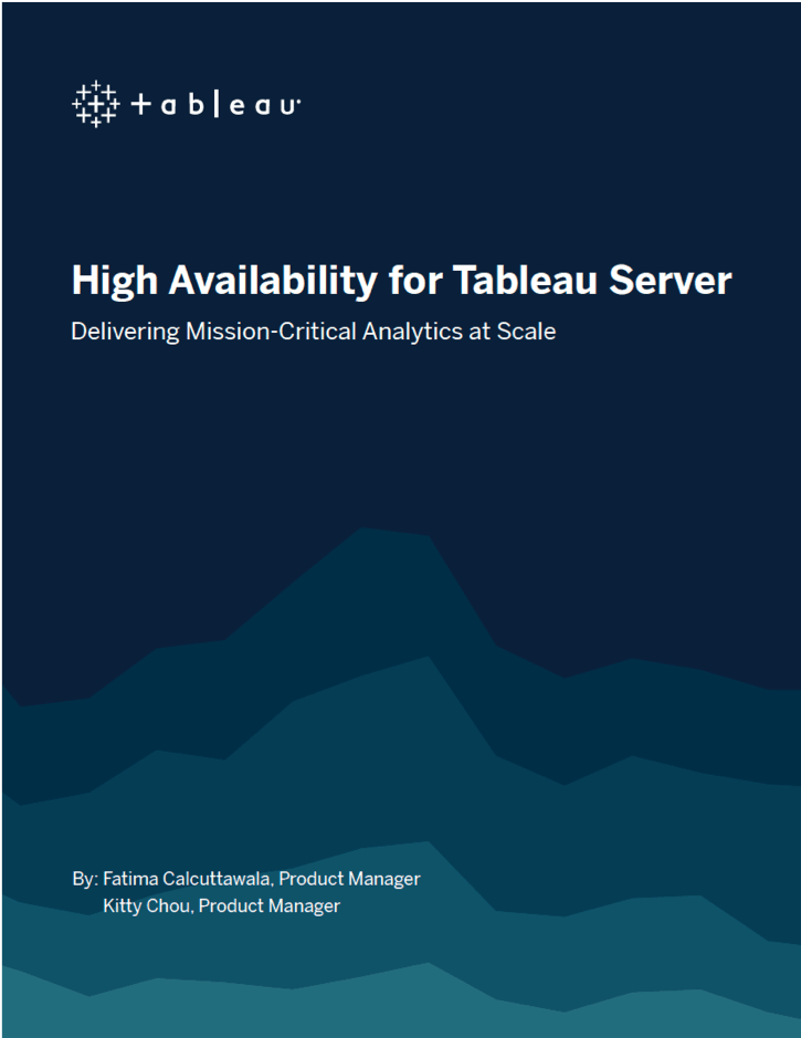 An image of the cover page of the Tableau Server Higher Availability whitepaper