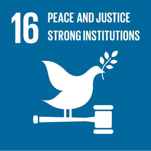 Frieden, Gerechtigkeit, Stärkung der Institutionen
