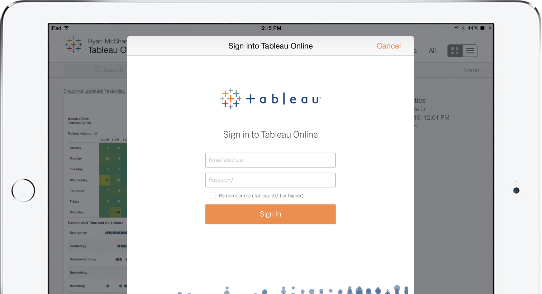 Stay secure on Tableau Mobile