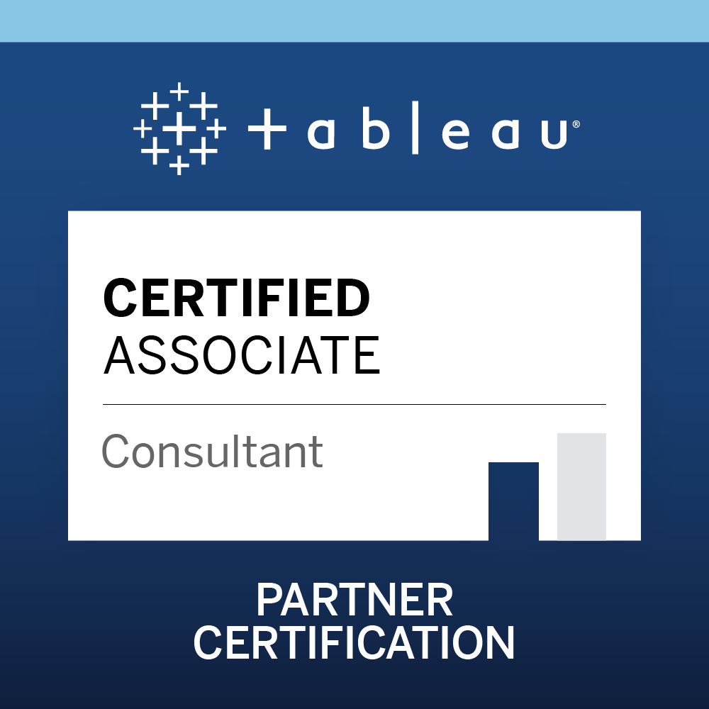 Tableau Certified Associate Consultant