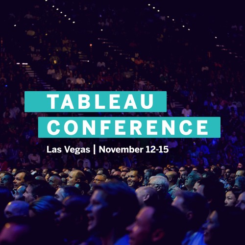 Join us for Tableau Conference 2019